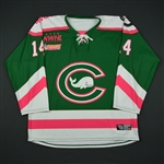 Orlando, Elena<br>Green- Strides For The Cure<br>Connecticut Whale 2016-17<br>#14 Size: MD