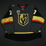 Garrison, Jason<br>Gray Stanley Cup Playoffs w/ Inaugural Season Patch - Game-Issued (GI)<br>Vegas Golden Knights 2017-18<br>#7 Size: 58