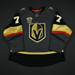 Hunt, Brad<br>Gray Stanley Cup Playoffs w/ Inaugural Season Patch - Game-Issued (GI)<br>Vegas Golden Knights 2017-18<br>#77 Size: 54