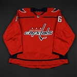 Albert, John<br>Red Set 2 - Game-Issued (GI)<br>Washington Capitals 2017-18<br>#16 Size: 58