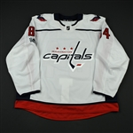 Bindulis, Kristofers<br>White Set 1 w/ NHL Centennial Patch - Game-Issued (GI)<br>Washington Capitals 2017-18<br>#84 Size: 58