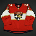 Bjugstad, Nick *<br>Red Set 1 w/ Centennial patch - Photo-Matched<br>Florida Panthers 2016-17<br>#27 Size: 58