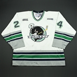 Pisellini, Gino *<br>White<br>Plymouth Whalers 2003-04<br>#24 Size: 56