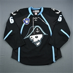 Ellis, Ryan *<br>Black - Autographed<br>Milwaukee Admirals 2011-12<br>#6 Size: 54