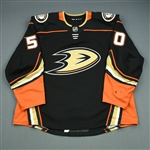 Vermette, Antoine<br>Black - PHOTO-MATCHED <br>Anaheim Ducks 2017-18<br>#50 Size: 58
