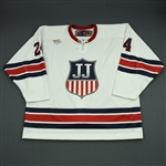 Tinordi, Jarred<br>Team White - Jim Johannson Memorial Hockey Game - 2018 Stars & Stripes Showdown<br>Team USA 2018<br>#24 Size: 58