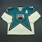 Messier, Mark *<br>White/Teal Eastern Conference w/A - Boston<br>NHL All Star 1995-96<br>#11 Size: 54
