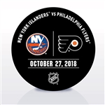Philadelphia Flyers Warmup Puck<br>October 27, 2018 vs. New York Islanders<br>Philadelphia Flyers 2018-19<br>