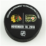 Philadelphia Flyers Warmup Puck<br>November 10, 2018 vs. Chicago Blackhawks - Military Night<br>Philadelphia Flyers 2018-19<br>