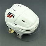 Coleman, Blake<br>White, Bauer Helmet w/ Bauer Shield<br>Team USA 2017-18<br>#25 Size: Medium