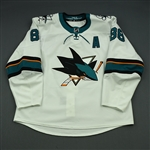 Burns, Brent *<br>White w/A<br>San Jose Sharks 2017-18<br>#88 Size: 58