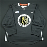 Carrier, William<br>Gray Practice Jersey w/ City National Bank Patch<br>Vegas Golden Knights 2017-18<br>#28 Size: 56