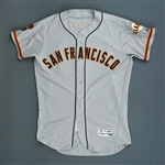 Posey, Buster *<br>Gray<br>San Francisco Giants 2016<br>#28 Size: 46