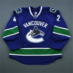 Ferriero, Ben *<br>Blue<br>Vancouver Canucks 2013-14<br>#42 Size: 56