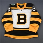 Acciari, Noel<br>White - Winter Classic Period 2<br>Boston Bruins 2018-19<br>#55 Size: 56