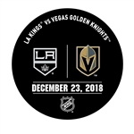 Vegas Golden Knights Warmup Puck<br>December 23, 2018 vs. Los Angeles Kings<br> 2018-19
