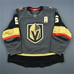 Engelland, Deryk<br>Gray Set 1 w/A<br>Vegas Golden Knights 2018-19<br>#5 Size: 58