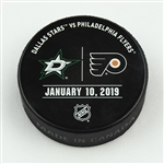 Philadelphia Flyers Warmup Puck<br>January 10, 2019 vs. Dallas Stars<br>Philadelphia Flyers 2018-19<br>54
