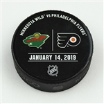 Philadelphia Flyers Warmup Puck<br>January 14, 2019 vs. Minnesota Wild<br>Philadelphia Flyers 2018-19<br>56