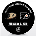 Philadelphia Flyers Warmup Puck<br>February 9, 2019 vs. Anaheim Ducks<br>Philadelphia Flyers 2018-19<br>56