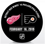 Philadelphia Flyers Warmup Puck<br>February 16, 2019 vs. Detroit Red Wings<br>Philadelphia Flyers 2018-19<br>58
