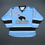 Accursi, Taylor<br>Blue Set 1<br>Buffalo Beauts 2018-19<br>#95 Size: LG