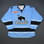 No Name on Back (NNOB)<br>Blue Set 1<br>Buffalo Beauts 2018-19<br> Size: LG