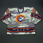 Toivonen, Hannu *<br>Camouflage Military Appreciation<br>Orlando Solar Bears 2012-13<br>#29 Size: 58G
