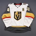 Bellemare, Pierre-Edouard<br>White Set 1 w/A<br>Vegas Golden Knights 2018-19<br>#41 Size: 54