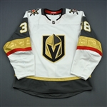 Hyka, Tomas<br>White Set 1 <br>Vegas Golden Knights 2018-19<br>#38 Size: 54
