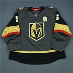 Engelland, Deryk <br>Gray Set 2 w/A<br>Vegas Golden Knights 2018-19<br>#5 Size: 58