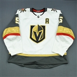 Engelland, Deryk <br>White Set 2 w/A<br>Vegas Golden Knights 2018-19<br>#5 Size: 58