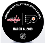 Philadelphia Flyers Warmup Puck<br>March 6, 2019 vs. Washington Capitals<br>Philadelphia Flyers 2018-19<br>58