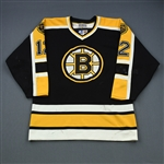 Oates, Adam *<br>Black Set 1 - w/A removed - Video-Matched<br>Boston Bruins 1996-97<br>#12 Size: 52
