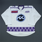 Lund, Margo<br>White DIFD Warm-Up Jersey (Game-Issued) - March 2, 2019 @ Boston Pride<br>Minnesota Whitecaps 2018-19<br>#16 Size: LG