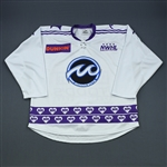 Lundquist, Sadie<br>White DIFD Warm-Up Jersey (Game-Issued) - March 2, 2019 @ Boston Pride<br>Minnesota Whitecaps 2018-19<br>#17 Size: LG