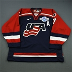 Tkachuk, Keith *<br>Blue - World Cup of Hockey<br>Team USA 2004<br>#7 Size: 58