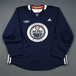 adidas<br>Navy Practice Jersey w/ Ford Patch <br>Edmonton Oilers 2018-19<br># Size: 56