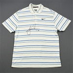 Woods, Tiger *<br>White Nike Polo - Masters Third Round April 11, 2009 - Autographed - Photo-Matched<br>Tiger Woods 2009<br> Size: M