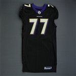 Birk, Matt *<br>Black - worn 11-28-10 vs. Tampa Bay - Photo-Matched<br>Baltimore Ravens 2010<br>#77 Size: 48