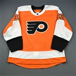 Bunnaman, Connor<br>Orange Set 1 - Game-Issued (GI)<br>Philadelphia Flyers 2018-19<br>#82 Size: 58