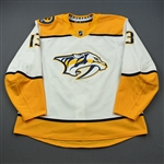 Bonino, Nick<br>White Set 2  - 100th Career Goal<br>Nashville Predators 2018-19<br>#13 Size: 58