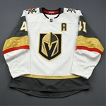 Bellemare, Pierre-Edouard <br>White Set 3 w/A<br>Vegas Golden Knights 2018-19<br>#41 Size: 54