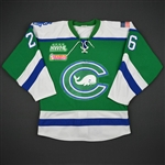 Brickner, Jordan<br>Green Regular Season - Game-Issued<br>Connecticut Whale 2016-17<br>#26 Size: M