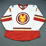 Jutzi, Jon<br>MARVEL Iron Man Jersey w/Socks - Worn March 2, 2019 @ Utah Grizzlies (Autographed)<br>Maine Mariners 2018-19<br>56