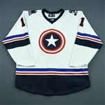 McVeigh, Anthony<br>White - Captain America - Autographed w/ Socks<br> 2018-19<br>#11 Size: 54