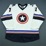 Thomas, Jared<br>White - Captain America - Autographed<br> 2018-19<br>#71 Size: 56