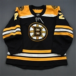 Becker, Jack<br>Black Set 1 - Game-Issued (GI)<br>Boston Bruins 2018-19<br>#72 Size: 56