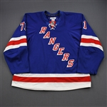 Rupp, Mike *<br>Blue - Eastern Conference Quarter-Finals<br>New York Rangers 2011-12<br>#71 Size: 58+