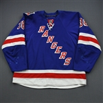 Sauer, Michael *<br>Blue w/ 85th Anniversary Patch - Worn October 2010 - December 2010<br>New York Rangers 2010-11<br>38 Size: 58